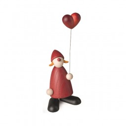 Weihnachtsfrau mit Herz