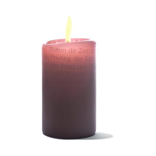 Zeit für das Wesentliche, Wortlicht-Kerze