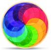 Legespiel Farbspirale, groß