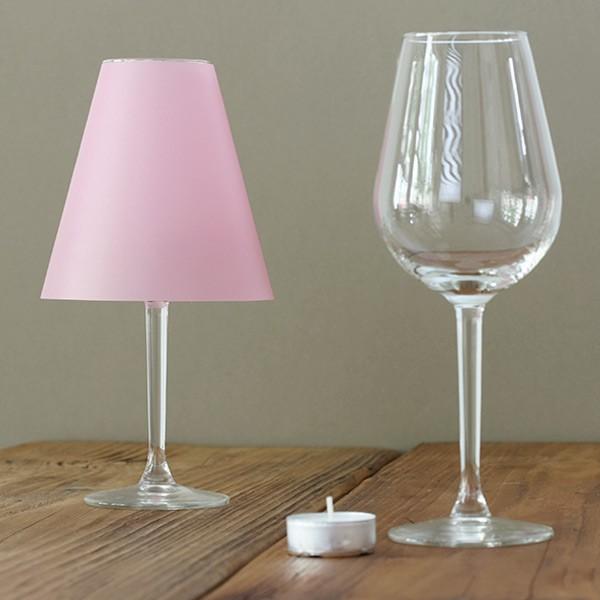 Zarte Helene – 3 Lampenschirme in rosa