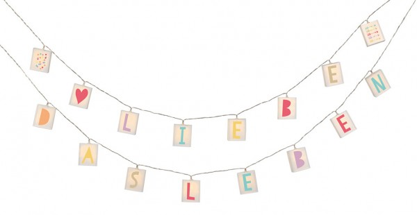 Happy me Buchstaben Lichterkette