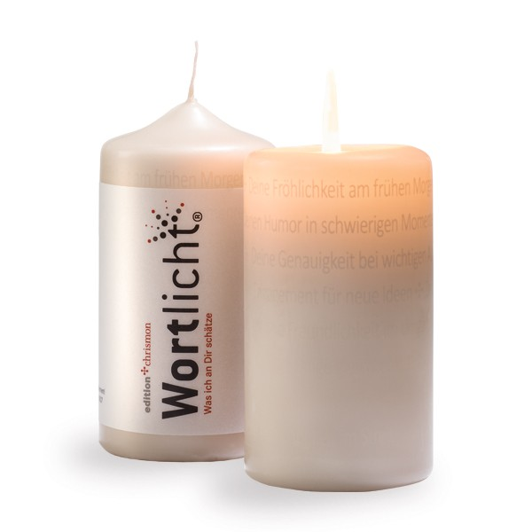 Was ich an Dir schätze, Wortlicht-Kerze