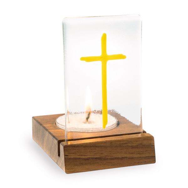 Tischlicht Kreuz