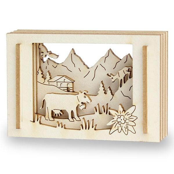Mini-Bergwelt in der Streichholzschachtel