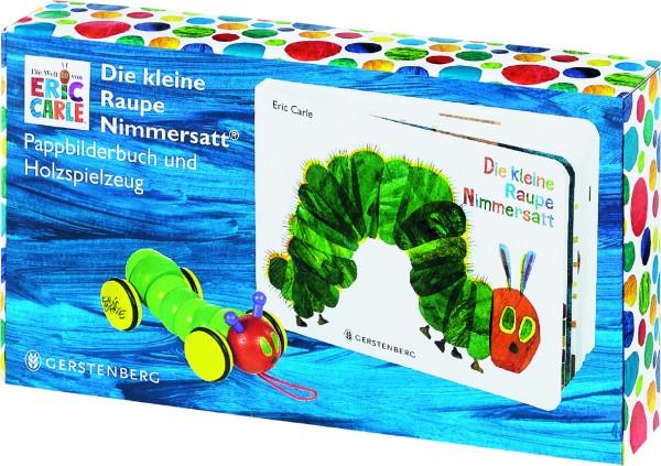Die kleine Raupe Nimmersatt - Geschenkset Pappbilderbuch mit -Holzraupe