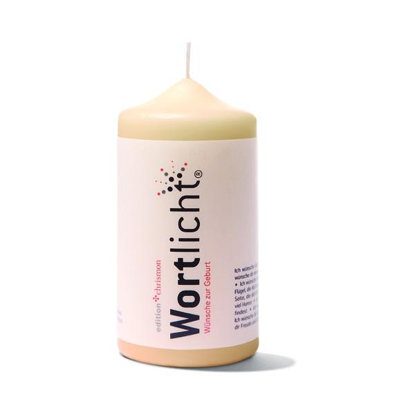 Leuchtende Wünsche zur Geburt, Wortlicht-Kerze