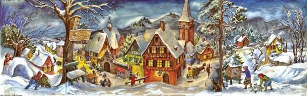 """Panorama Adventskalender- """"Kleine Stadt im Winter"""" 4025985202658"""