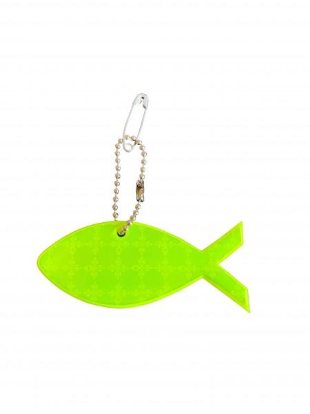 Fisch Ichthys- Reflektor Anhänger