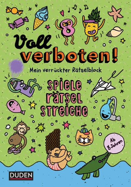 Dudenredaktion (Autor), Angelika Sust (Autor), Judith Heger (Illustr.): Voll verboten! Mein verrückter Rätselblock 3 ISBN: 978-3-411-76203-3