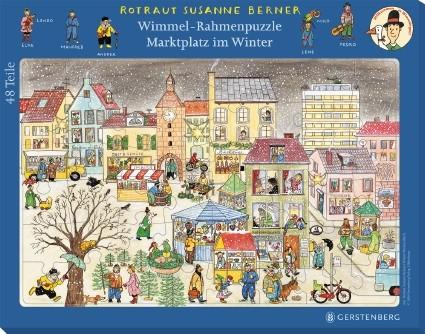 Wimmel-Rahmenpuzzle Winter Motiv Marktplatz