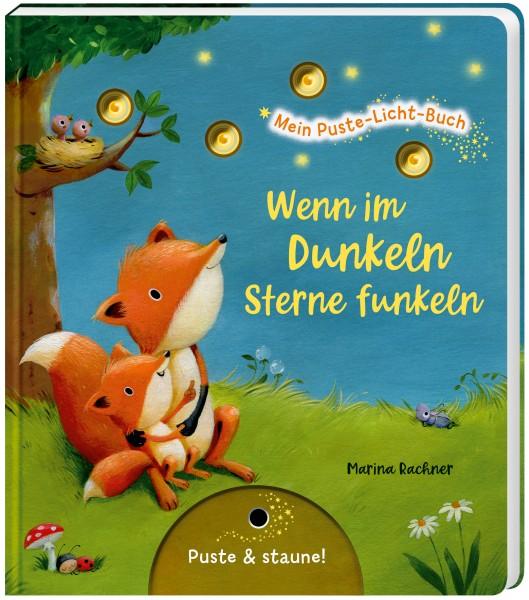 Mein Puste-Licht-Buch - Wenn im Dunkeln Sterne funkeln