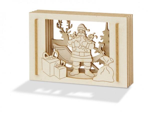 Frohes Fest! Der Weihnachtsmann in der Streichholzschachtel