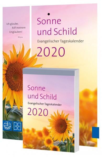 Sonne und Schild 2020 (Abreißkalender mit Rückwand)