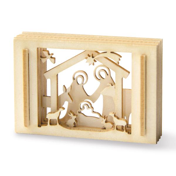 mini krippe aus holz in einer streichholzschachtel jetzt im chrismonshop kaufen 4260393370500. Black Bedroom Furniture Sets. Home Design Ideas