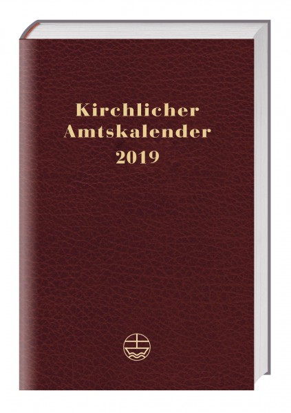 Kirchlicher Amtskalender 2019 (rot)