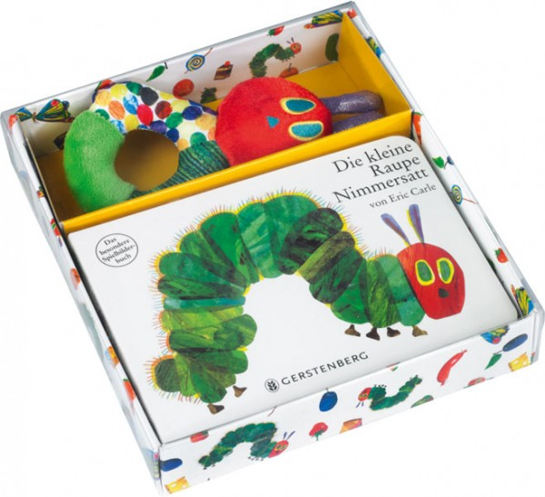 Die kleine Raupe Nimmersatt - Geschenkset Pappbilderbuch mit Stoffrassel