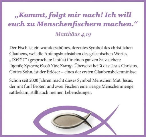 Fisch-Ichthys-Anstecker-Geschenkset