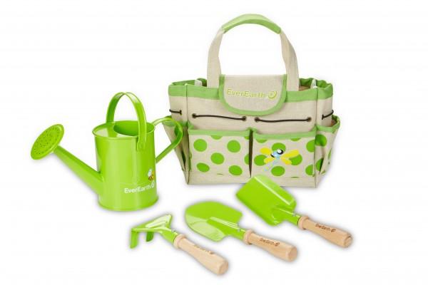 Gartenbeutel mit Gartenwerkzeug für Kinder